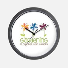 gardening is cheaper than therapy Wall Clock
