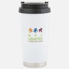 gardening is cheaper than therapy Travel Mug