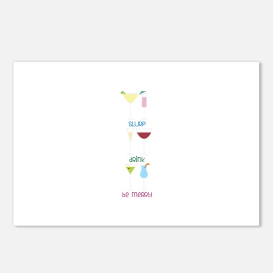 SLuRP * dRink * be meRRy Postcards (Package of 8)