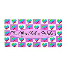Office Clerk Love Beach Towel