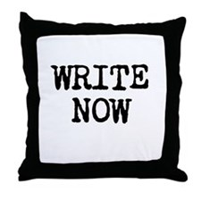 WRITE NOW Throw Pillow