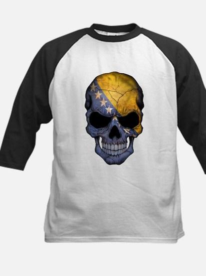 Bosnia - Herzegovina Flag Skull Baseball Jersey