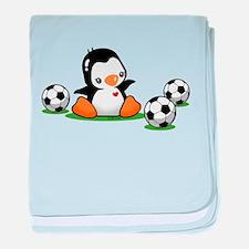 I Love Soccer (7) baby blanket