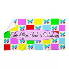 Sweet Office Clerk Beach Towel