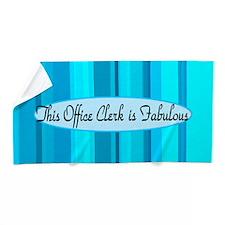 Blue Office Clerk Beach Towel