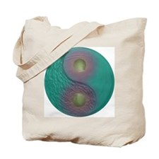 Yin Yang Tao Optic Rainbow Tote Bag