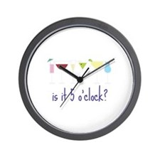 is it 5 o'clock? Wall Clock