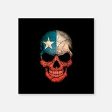 Texas Flag Skull on Black Sticker