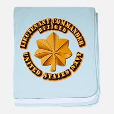 Navy - Lieutenant - O-3 - w Text baby blanket