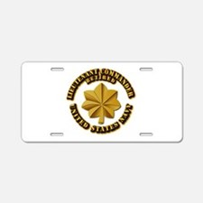 Navy - Lieutenant - O-3 - w Aluminum License Plate