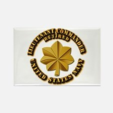 Navy - Lieutenant - O-3 - w Text Rectangle Magnet