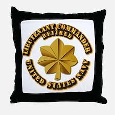 Navy - Lieutenant - O-3 - w Text Throw Pillow