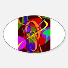 Irregular Abstract Forms and Lines Decal