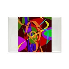 Irregular Abstract Forms and Lines Magnets