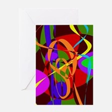 Irregular Abstract Forms and Lines Greeting Cards