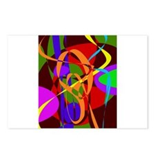Irregular Abstract Forms and Lines Postcards (Pack