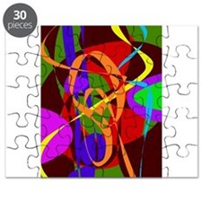 Irregular Abstract Forms and Lines Puzzle