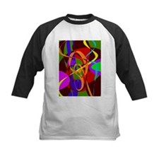 Irregular Abstract Forms and Lines Baseball Jersey