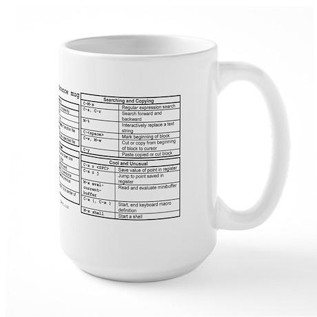 Emacs Reference Mug (Large)