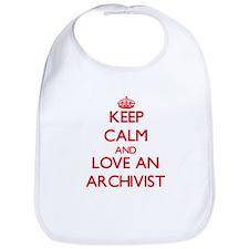 Keep Calm and Love an Archivist Bib