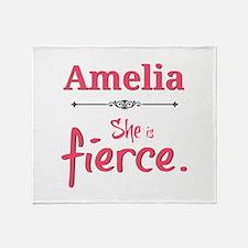 Amelia is fierce Throw Blanket