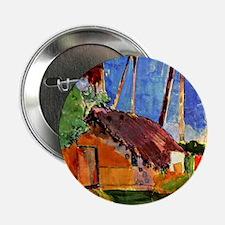 """Gauguin - Thatched Hut under Palms 2.25"""" Button"""