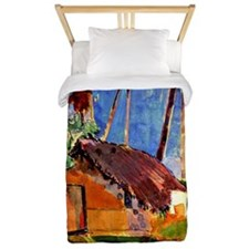 Gauguin - Thatched Hut under Palms Twin Duvet
