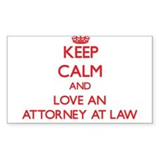 Keep Calm and Love an Attorney At Law Decal