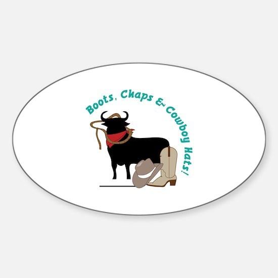 cowboy Sticker (Oval)