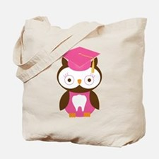 Cute Dental School Graduation Owl Tote Bag