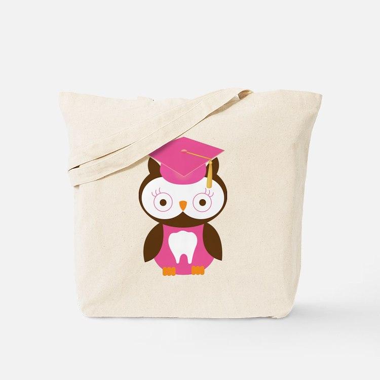 Cute Dental School Graduation Owl Tote Bag