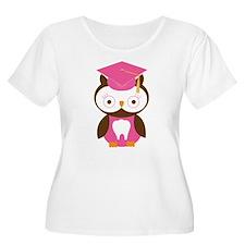 Cute Dental School Graduation Owl Plus Size T-Shir