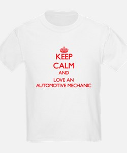 Keep Calm and Love an Automotive Mechanic T-Shirt