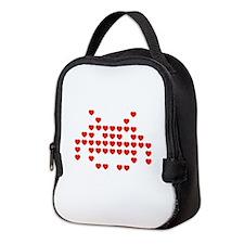 Heart Invader Neoprene Lunch Bag