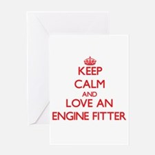 Keep Calm and Love an Engine Fitter Greeting Cards