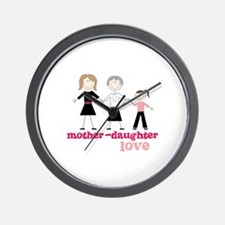Mother-Daughter-Love Wall Clock