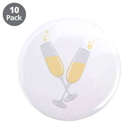 "Champagne 3.5"" Button (10 pack)"