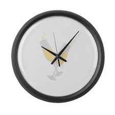 Champagne Large Wall Clock