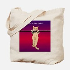 Hang In There Baby Kitten Tote Bag