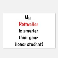 My Rottweiler is smarter... Postcards (Package of