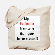 My Rottweiler is smarter... Tote Bag