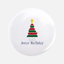"""Jesus Birthday 3.5"""" Button (100 pack)"""