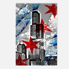 Chicago Flag Sears Wills Tower Postcards (Package