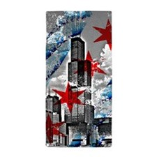 Chicago Flag Sears Wills Tower Beach Towel