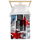 Chicago flag Twin Duvet Covers