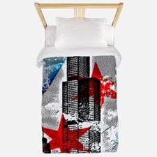 Chicago Flag Sears Wills Tower Twin Duvet