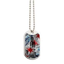 Chicago Flag Sears Wills Tower Dog Tags