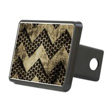 Chevron Grunge Metal Look Hitch Cover