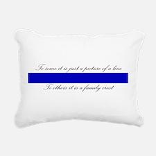 LEO Family Crest Rectangular Canvas Pillow