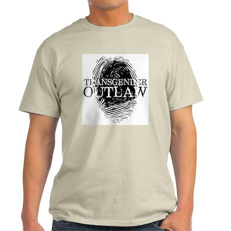 Transgender Outlaw thumbprint Ash Grey T-Shirt